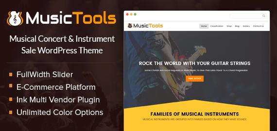 MusicTools – Musical Instrument Sale WordPress Theme
