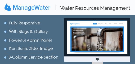 Water Resources Management WordPress Theme