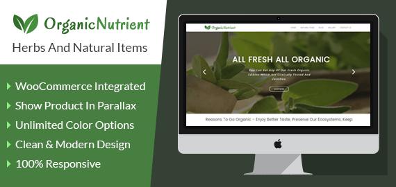 Herbs And Natural Items WordPress Theme