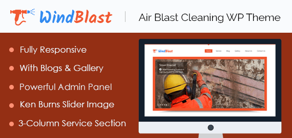 Air Blast Cleaning WordPress Theme