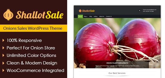 Onions Sales WordPress Theme
