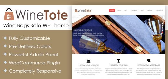 Wine Bags Sale WordPress Theme & Template