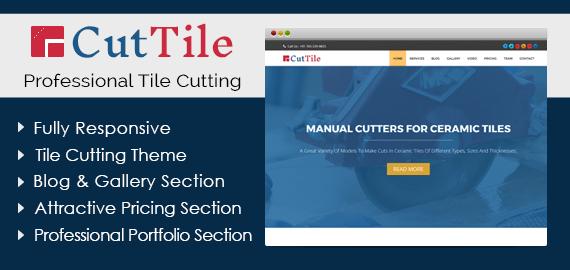 Cut Tile – Professional Tile Cutting WordPress Theme