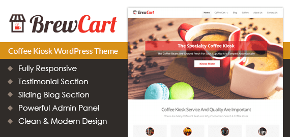 Coffee Kiosk WordPress Theme & Template