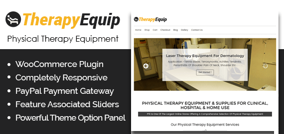 Physical Therapy Equipment WordPress Theme