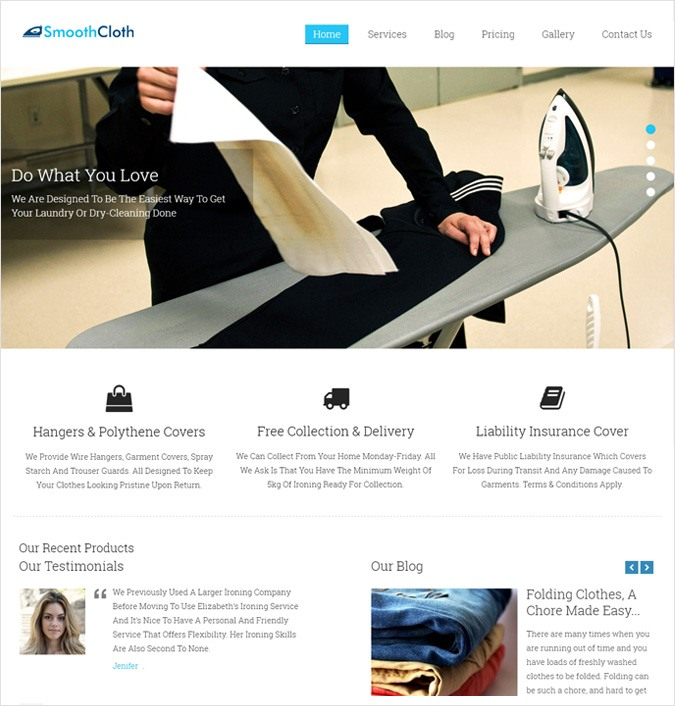 SmoothCloth WordPress Theme