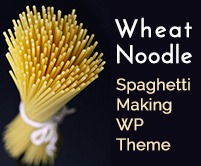 Wheat Noodle - Spaghetti Making WordPress Theme & Template