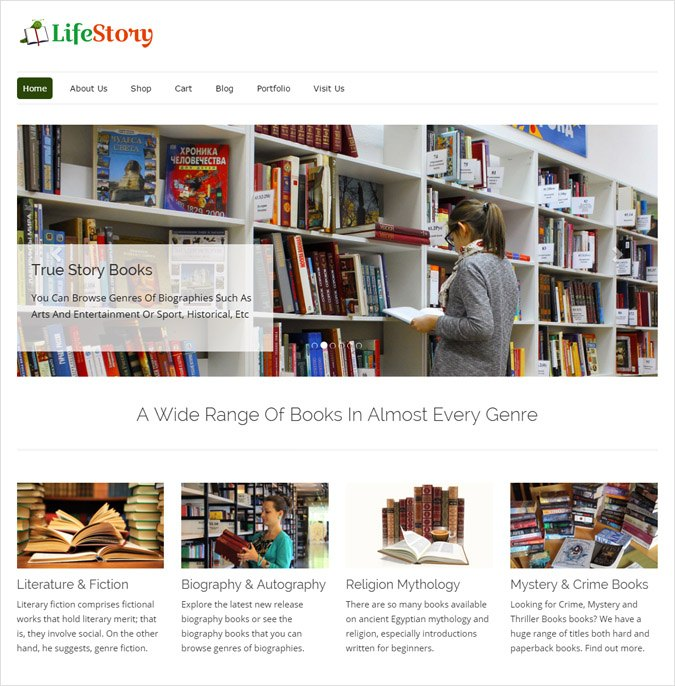 Story Books Shop WordPress Theme