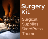Surgery Kit - Surgical Supplies WordPress Theme & Template
