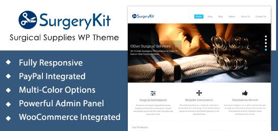 Surgical Supplies WordPress Theme