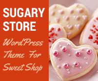 Sugary Store - Sweet Shop WordPress Theme & Template