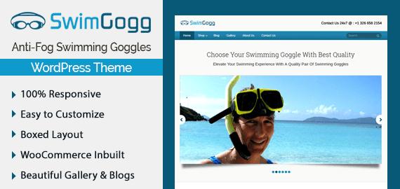 SwimGogg – Anti-Fog Swimming Goggles WordPress Theme