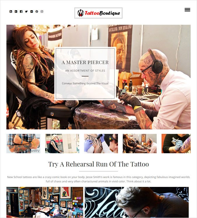 TattooBoutique WP theme