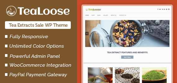 Tea Extracts Sale WordPress Theme