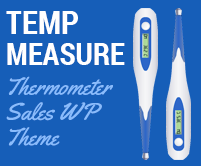 Temp Measure - Thermometer Sales WordPress Theme & Template