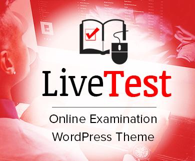 Livetest - Online-prüfung WordPress Theme