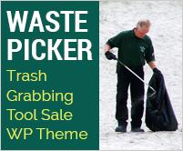 Waste Picker - Trash Grabbing Tool Sale WordPress Theme & Template