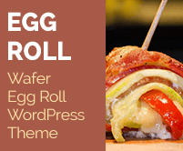 Egg Roll - Wafer Egg Roll WordPress Theme & Template