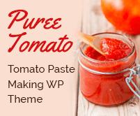 Puree Tomato - Tomato Paste Making WordPress Theme & Template