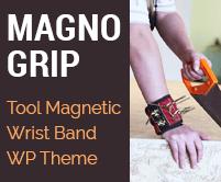 Magno Grip - Tool Magnetic Wrist Band Sale WordPress Theme & Template