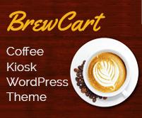 Brew Cart - Coffee Kiosk WordPress Theme & Template
