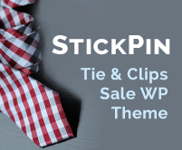 Stick Pin - Tie And Clips Sale WordPress Theme & Template