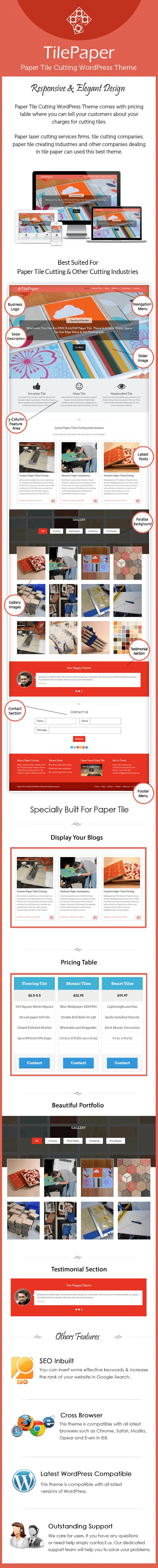 Paper Tile Cutting WordPress Theme