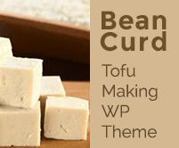 Bean Curd - Tofu Making WordPress Theme & Template