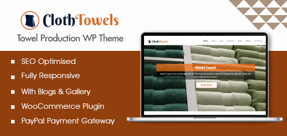 Towel Production WordPress Theme