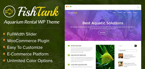 Tropical Fish And Aquarium Rental WordPress Theme