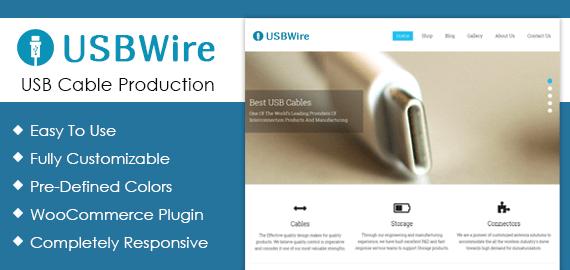 USB Cable Production WordPress Theme