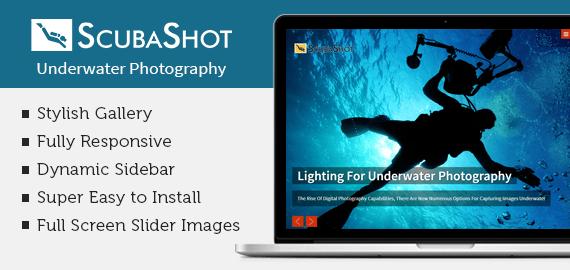 [ScubaShot] Underwater Photography WordPress Theme
