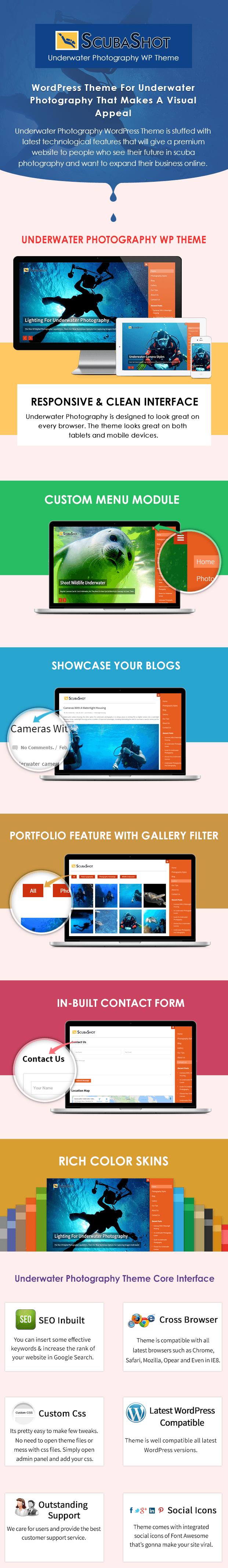 Underwater Photography WordPress Theme