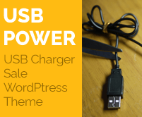 USB Power - Usb Charger Sale WordPress Theme & Template