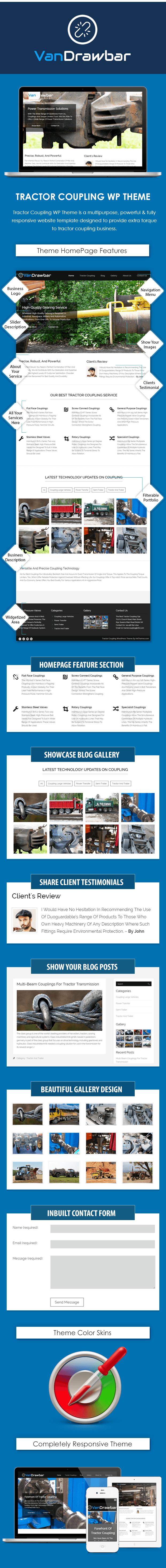 Tractor Coupling WordPress Theme