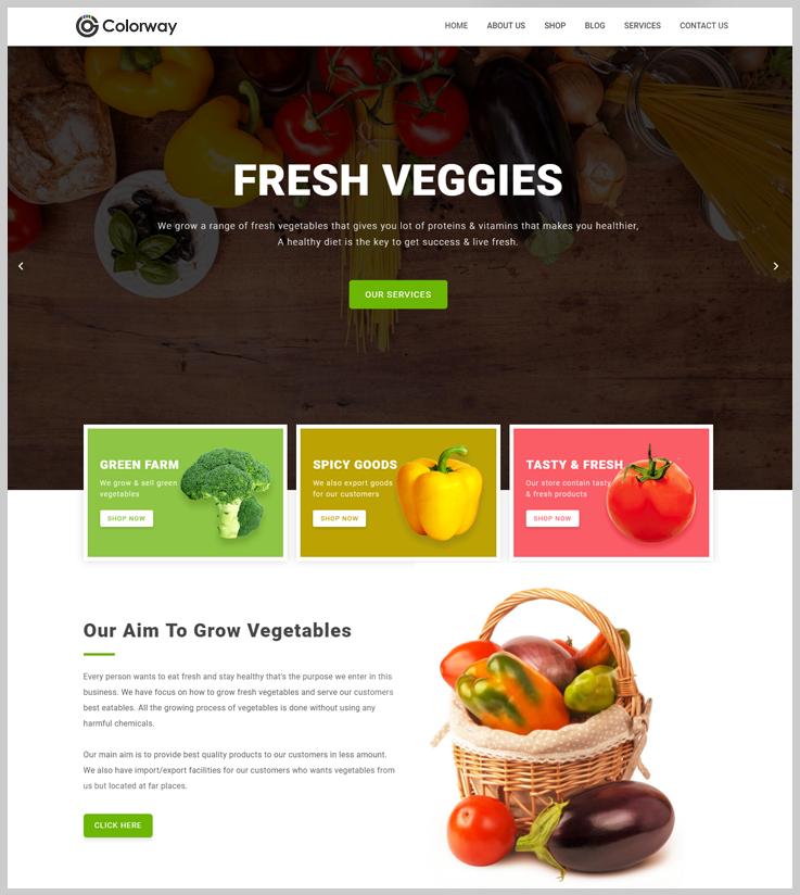 Colorway - Grocery Store WordPress Theme