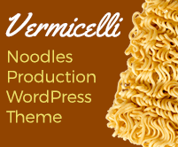 Vermicelli - Noodles Production WordPress Theme & Template