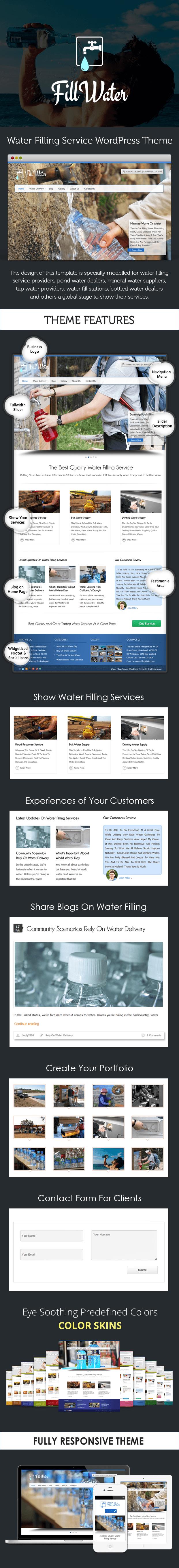Water Filling Service WordPress Theme