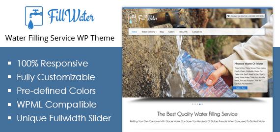 [FillWater] Water Filling Service WordPress Theme