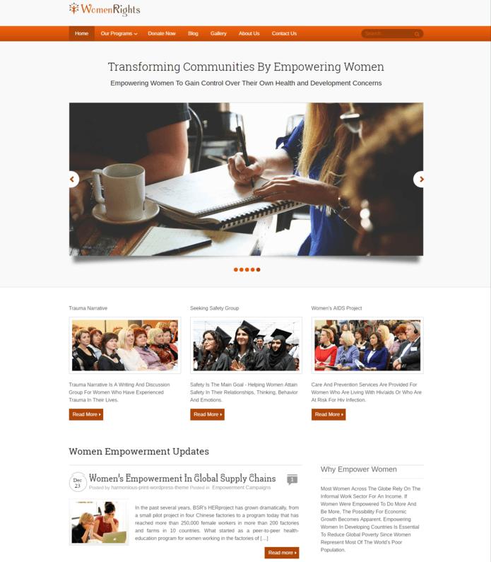 Women Empowerment Program WordPress Theme