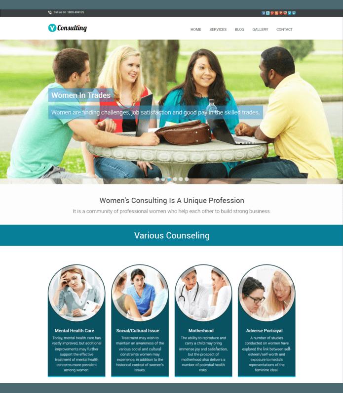Womens Consulting WordPress Theme