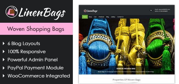 Linen Bags – Woven Shopping Bags WordPress Theme