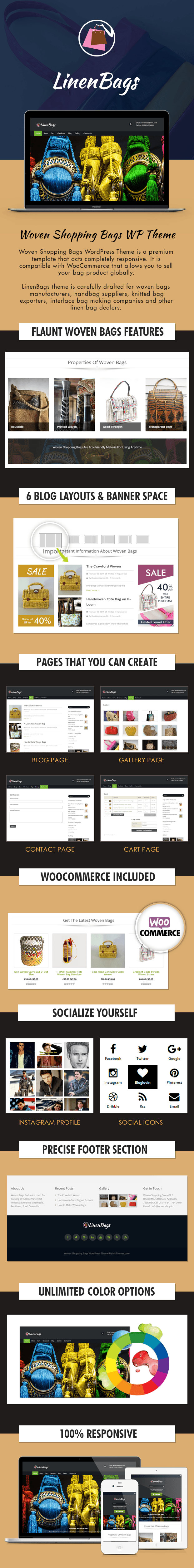 Woven Shopping Bags WordPress Theme