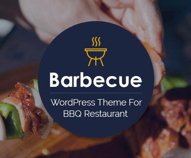 Barbecue - Restaurant Thème WordPress