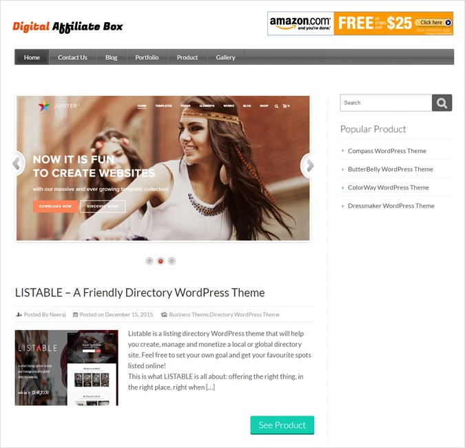 Digital Affiliate Box WP Theme