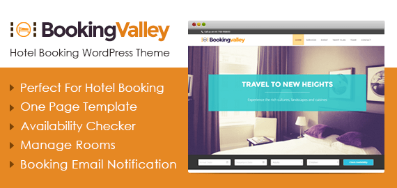 Bookingvalley – Hotelbuchung WordPress Theme