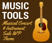 Music Tools - Musical Concert And Instrument Sale WordPress Theme