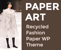 Paper Art - Recycled Fashion Paper WordPress Theme & Template