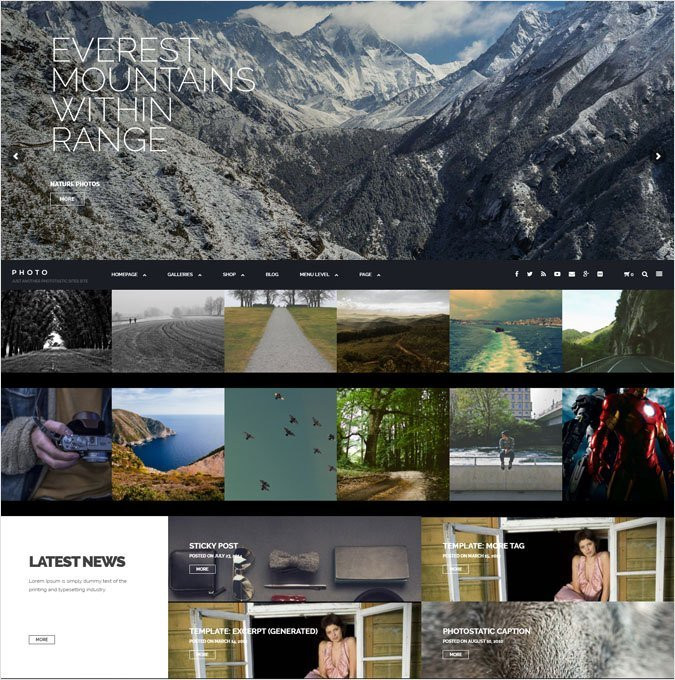 Photo Artist Portfolio WordPress Themes