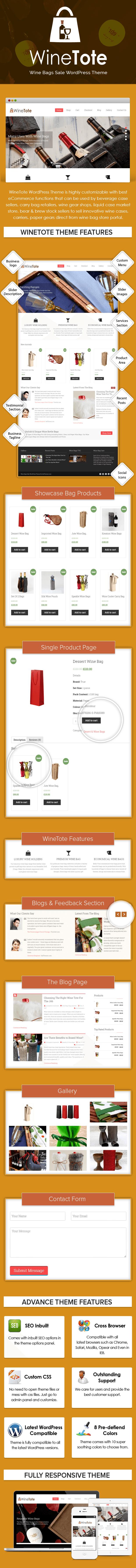 Wine Bags Sale WordPress Theme